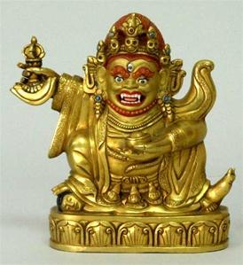 Statue Dorje Bernachen 04.5 inch, , Fully Gold Plated