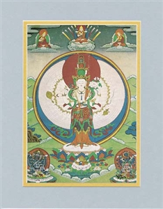 Thousand-Armed Avalokiteshvara, matted