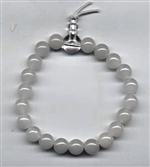Wrist Mala White Agate, 08mm