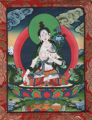 Thangka White Tara small