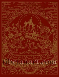 Samayavajra Silk Screen Print