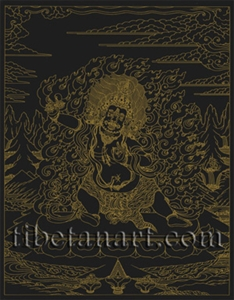 Vajrapani Silk Screen Print