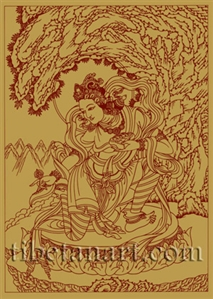 Yeshe Tsogyal Silk Screen Print