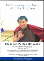 Emotions as the Path, Not the Problem (DVD) <Br> By: Dzogchen Ponlop Rinpoche