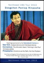 Northeast USA Tour 2013 (DVD set) <Br> By: Dzogchen Ponlop Rinpoche