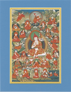 Padmasambhava and the 25 Disciples, matted