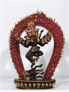 Statue Hevajra,12 inches, Partially Gold Plated