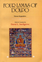 Four Lamas of Dolpo, Autobiographies of Four Tibetan Lamas (16-18th century) <br> By: Snellgrove, D.L.