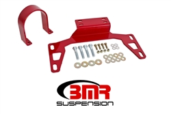 BMR Suspension 11-17 Mustang Driveshaft Safety Loop Front Red
