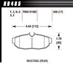 Hawk Performance Ceramic Performance Street Brake Pads (4) Rear Mustang 05-10
