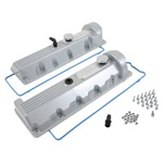Trickflow 2V SOHC Windsor (13/14 Bolt) Valve Covers - Silver