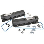 Trickflow 2V SOHC Windsor (13/14 Bolt) Valve Covers - Black
