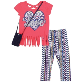 Wholesale RMLA Girls 4-6X 2PC Legging Set w/ Purse