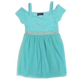 Wholesale RMLA Girls 4-6X Mesh Holiday Jewel Trim Dress