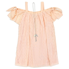 Wholesale RMLA Girls 4-6X Lace Dress W/ Necklace