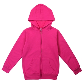 Wholesale Girls Basic Lightweight Fleece Zip