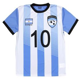 Wholesale STRIKE FORCE Boys 8-18 Soccer Jersey Top - ARGENTINA