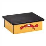 Ocean Crab Yellow Laminate Step Stool