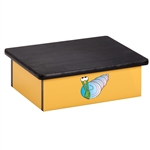 Ocean Snail Yellow Laminate Step Stool