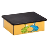 Rainforest Tree Frogs Yellow Laminate Step Stool
