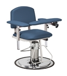 Clinton H Series, Padded, Blood Drawing Chair with Padded Arms