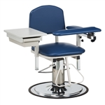 Clinton H Series, Padded, Blood Drawing Chair with Padded Flip Arm and Drawer