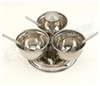 Stainless Steel Pickle Stand - 3 Bowls - By Celebrate Festival Inc