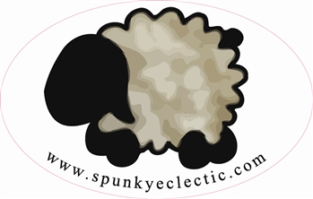 Spunky Sheep Bumper Sticker to Benefit 4-H