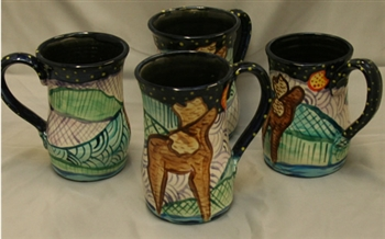 King's Pottery - Mug/Stein - Howling Moose