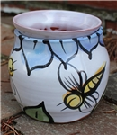 Pottery - Majolica African Violet Self Watering Pot - Bee (rounded)