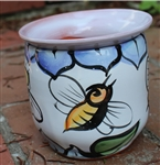 Pottery - Majolica African Violet Self Watering Pot - Bee (straight)