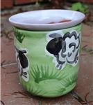 Pottery - Majolica African Violet Self Watering Pot - Green Sheep