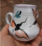 Pottery - Majolica - Espresso Cup - Dragonfly