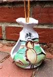 Pottery - Majolica - Tilandsia Shrine - Luna Moth (ruffled top)