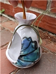 Pottery - Majolica - Tilandsia Shrine - Blue Lobster