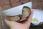 Pottery - Majolica Shallow Ice Cream Bowl - Clam & Lemons