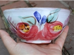 Pottery - Majolica Shallow Ice Cream Bowl - Cottage Rose
