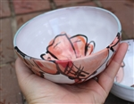 Pottery - Majolica Shallow Ice Cream Bowl - Red Lobster