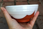 Pottery - Majolica Shallow Ice Cream Bowl - Minimalist