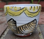 Pottery - Majolica Tall Ice Cream Bowl - Clam & Lemons