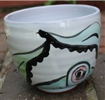 Pottery - Majolica Tall Ice Cream Bowl - Octopus