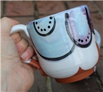 Pottery - Majolica Mug - Bubbles - Blue/Purple