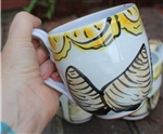 Pottery - Majolica Mug - Clam and Lemons