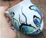 Pottery - Majolica Mug - Lobster - Blue