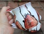 Pottery - Majolica Mug - Lobster - Red