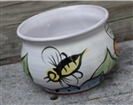 Pottery - Majolica Plant Pot - Bee