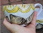 Pottery - Majolica Soup/Cappuccino Mug - Clam and Lemons