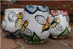 Pottery - Majolica Wine Cup - Bee