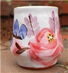 Pottery - Majolica Wine Cup - Cottage Rose