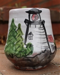 Pottery - Majolica Wine Cup - Lighthouse